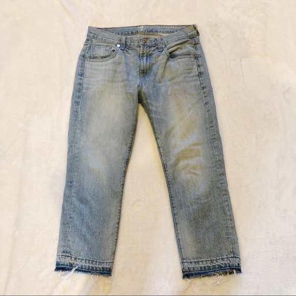 7 For All Mankind Denim - 7FAM | Cropped Relaxed Skinny Raw Hem Sz 25